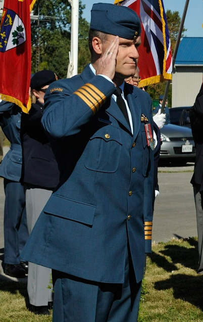 Then-Col. Russ Williams salutes as he arrives at the Battle of Britain parade in Trenton, Ont. in this Sept. 20, 2009 Department of National Defence handout photo.