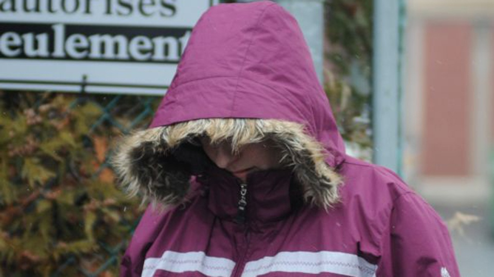 Sonia Blanchette seen outside the Drummondville courthouse in December 2011. Photo courtesy Ghyslain Bergeron, Journal L'Express.