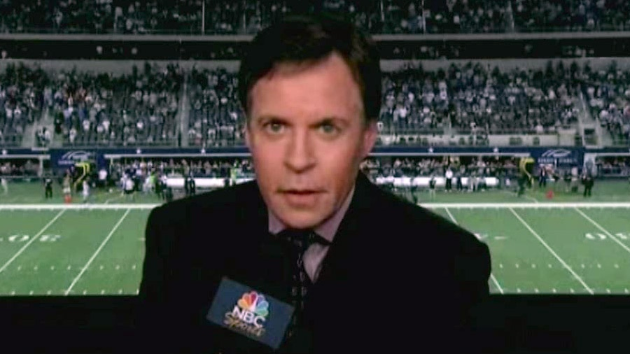 Bob Costas' 'Sunday Night Football' halftime commentary supporting gun control sparked a Fox News Channel debate Monday on whether NBC should fire him