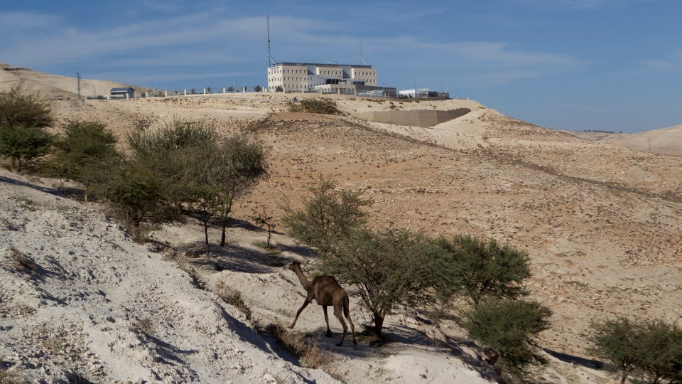 In this Sunday, Dec. 2, 2012 file photo, Israeli police headquarters is seen in the E-1 construction site near the West bank settlement of Maaleh Adumim on the eastern outskirts of Jerusalem. (AP / Ariel Schalit)