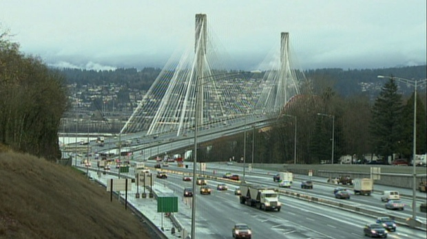 The Port Mann Bridge is seen in this undated CTV News file photo.