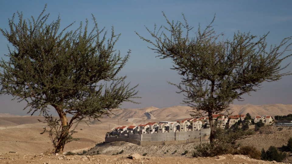 The E1 project at the Jewish West Bank settlement of Maaleh Adumim, near east Jerusalem, Sunday, Dec. 2, 2012. (AP / Ariel Schalit)