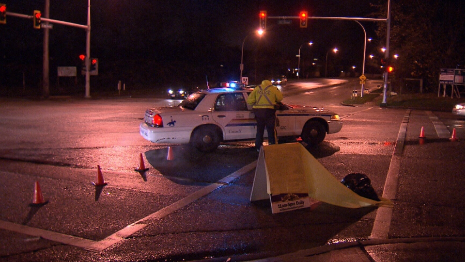 Two female joggers were injured in a hit-and-run in Surrey, B.C. on Dec. 3, 2012. (CTV)