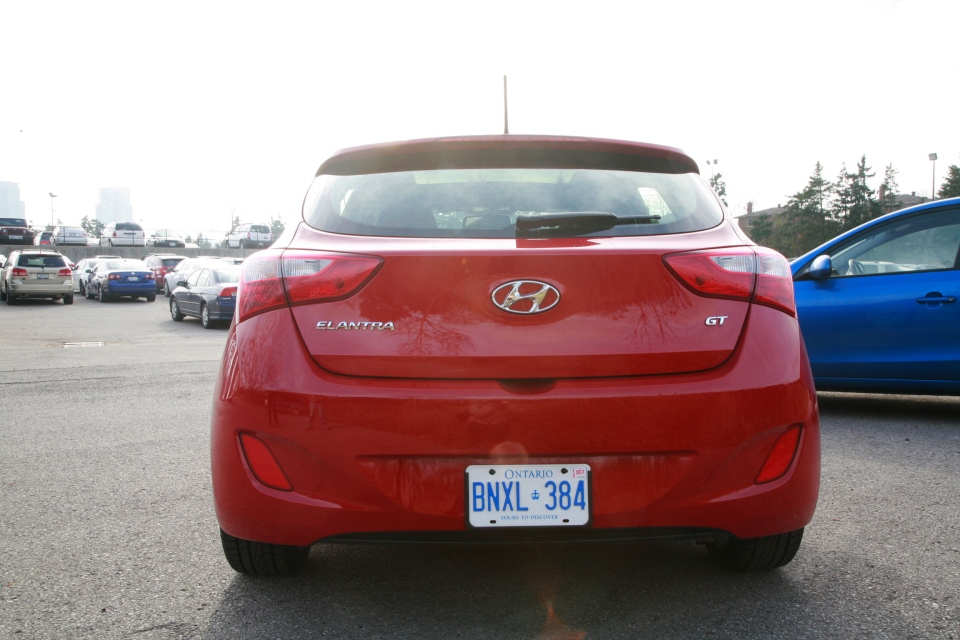 The 2013 Hyundai Elantra GT might not be as large as its predecessor, the Elantra Touring, but is comes with more standard features. (Bill Wang/CTVNews.ca)