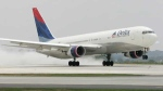 In this May 16, 2008 file photo, a Delta 767 jet takes off from Hartsfield-Jackson Atlanta International Airport in Atlanta. (AP Photo / John Amis)