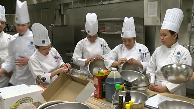 NAIT Culinary Arts students compete for a chance to have their dish sold under the Tokyo Express Tetsu Chef product line at grocery stores across Alberta.