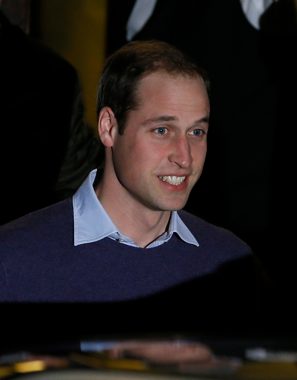 Britain's Prince William leaves a hospital in central London, Tuesday, Dec. 4, 2012. (AP / Kirsty Wigglesworth)