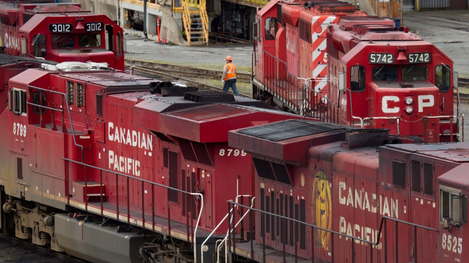 Canadian Pacific Rail locomotives are seen in this 2012 file photo. (Darryl Dyck / THE CANADIAN PRESS)