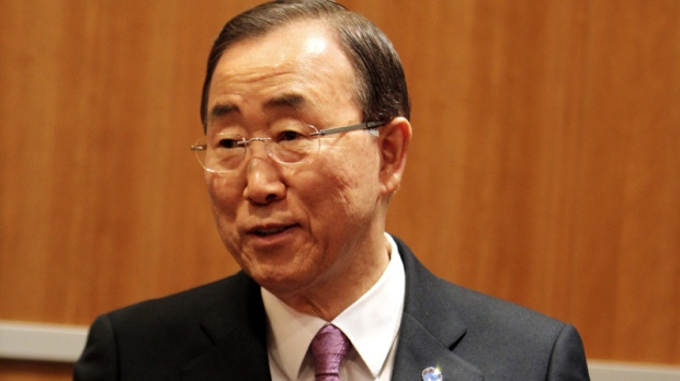 Ban Ki-moon in Doha on Dec. 5, 2012.