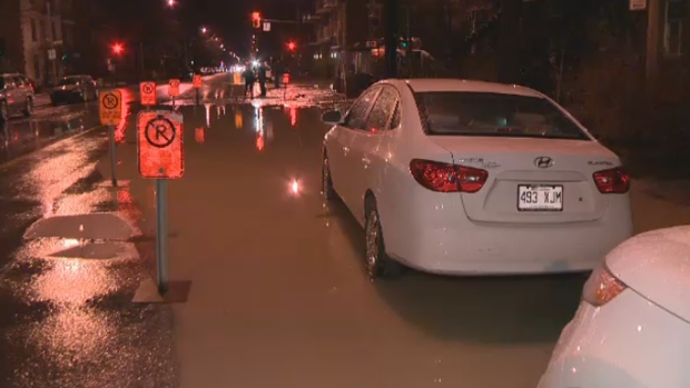 Water main break De Lorimier
