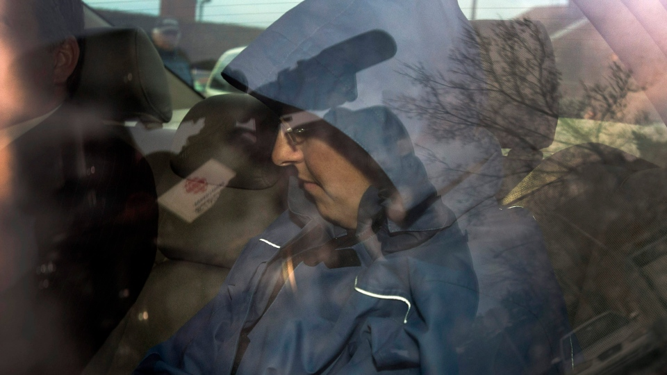 Sonia Blanchette arrives at the courthouse in Drummondville, Que., Wednesday, December 5, 2012. THE CANADIAN PRESS/Ryan Remiorz