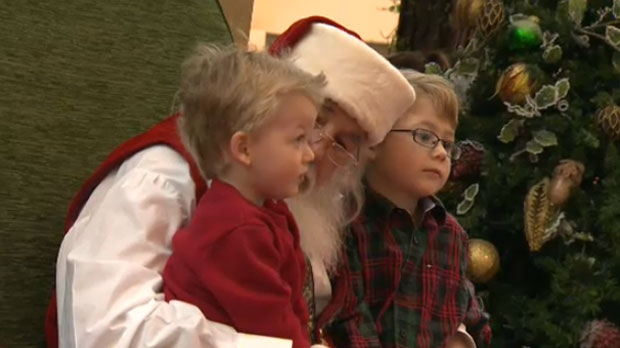 Santa's Enchanted Forest at Southcentre Mall hosted a group of special children on Sunday