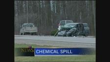 Multi-vehicle crash near Milverton