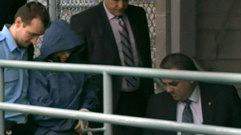 Sonia Blanchette was charged with three counts of first-degree murder at a Drummondville courtroom on Dec. 5, 2012.
