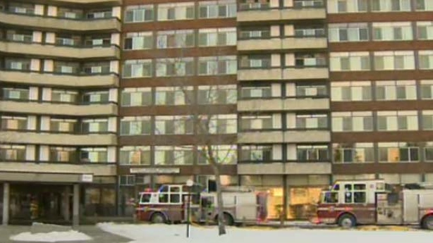 A fire prompted the evacuation of the Varsity Square Apartments
