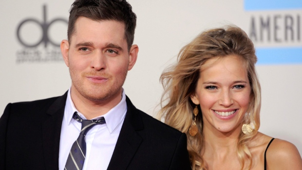 Michael Buble a father baby