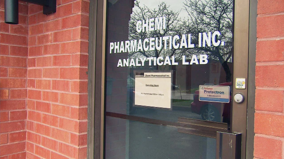 Chemi Pharmaceutical Inc. lost its licence pending an investigation of claims the company falsified drug test results.