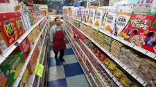 Grocery store food prices dip