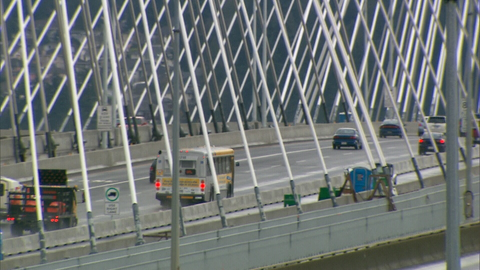 The new Port Mann bridge is said to be the second longest bridge in North America and the widest in the world.