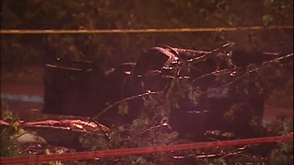 Gabriel Rossy died when a tree fell and crushed his car during a violent storm.