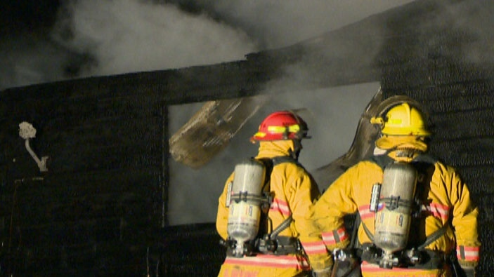 An explosion at a home near Mount Forest, Ont. sent two people to hospital on Thursday, Dec. 6, 2012.