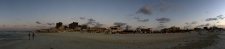 Panoramic view of the beach in Agamy