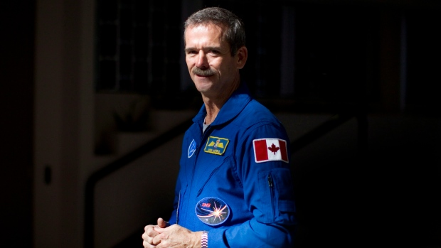 Chris Hadfield canadian in space