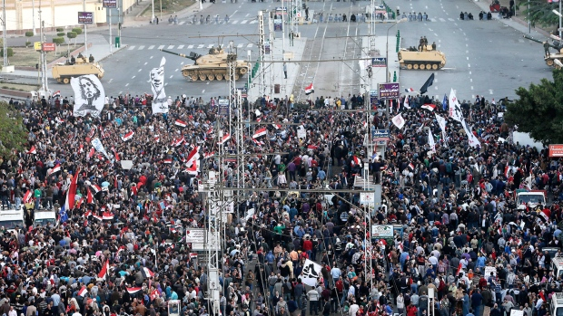 Egyptians march in protest against Mohammed Morsi