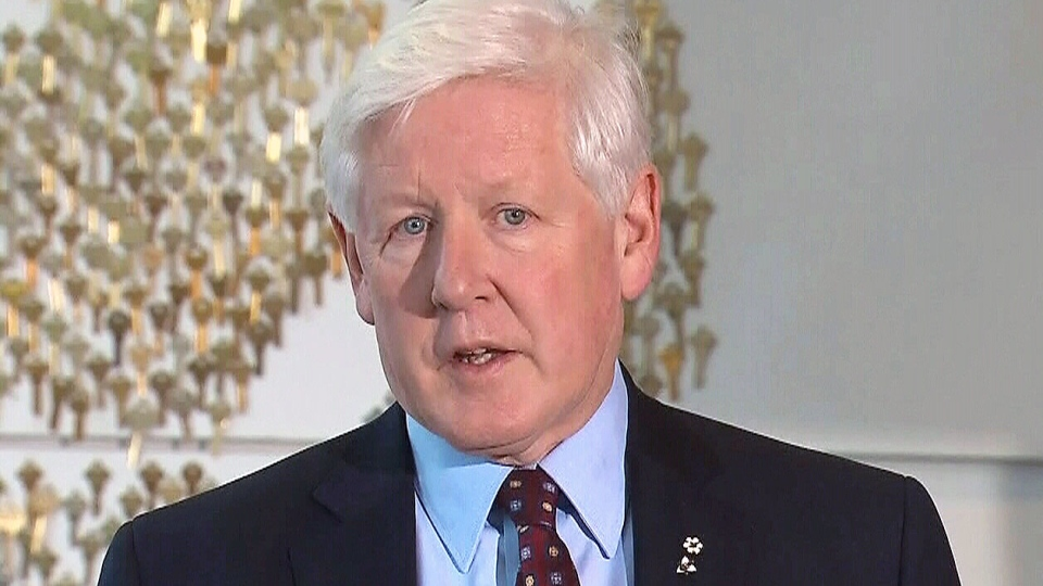 Liberal interim leader Bob Rae calls for the resignation of Defence Minister Peter MacKay at a press conference in Toronto on Friday, Dec. 7, 2012.