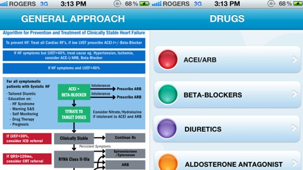 Alberta Health Services has designed a new app, MedHF, to help physicians and pharmacists better manage medications for patients with heart failure.