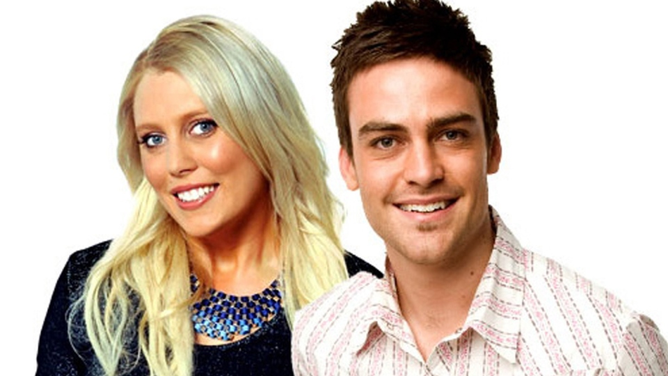 2DayFM radio presenters Mel Greig, left, and Michael Christian pose. Greig and Christian during their radio program Tuesday, Dec. 4, 2012, impersonated Britain's Queen Elizabeth II and the Prince of Wales to dupe hospital staff into giving information on the condition of the former Kate Middleton who was suffering severe morning sickness. (AP / AAP Image, Southern Cross Austereo Sydney)