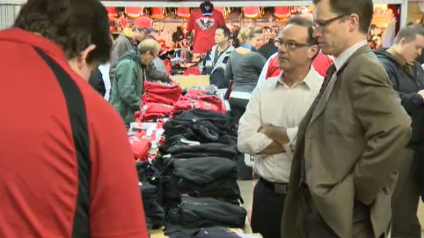 An exclusive merchandise sale for Flames season ticket holders is one of the ways the organization is thanking fans for their patience during the NHL labour dispute