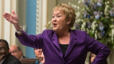 Quebec Premier Pauline Marois responds to oppositi