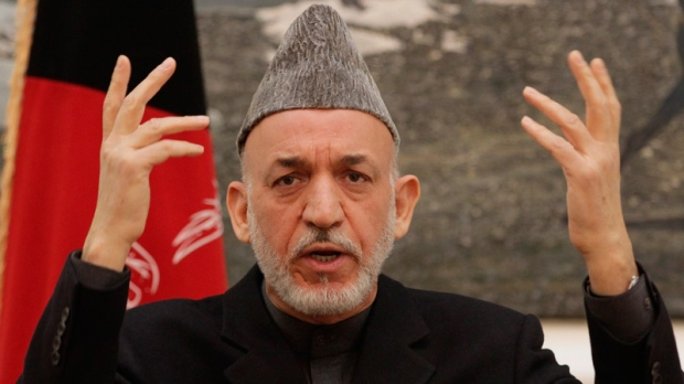 Hamid Karzai in Kabul on Dec. 8, 2012.
