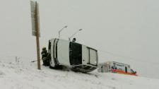 Six-car crash Perimeter Highway