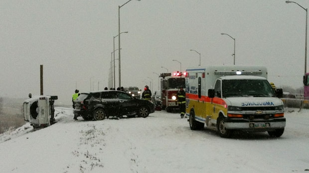 Six-car crash on Perimeter Highway