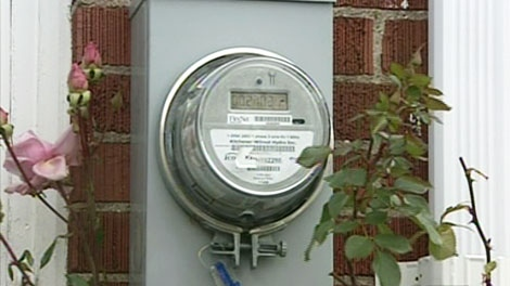 A new smart meter is seen at a home in Kitchener on Wednesday, Nov. 24, 2010.