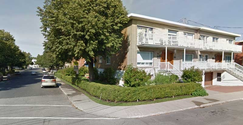 A man was found dead Saturday morning at this corner in Ahuntsic (photo: Google Street View)