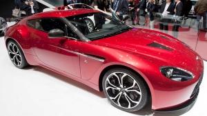 The Aston Martin V12 Zagato at the 82nd Geneva International Motor Show in Geneva, Switzerland, on March 6, 2012.  (Keystone / Sandro Campardo)