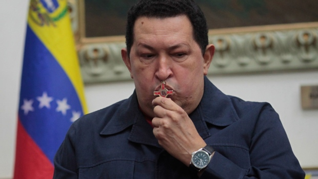 Chavez in Caracas on Dec. 8, 2012.