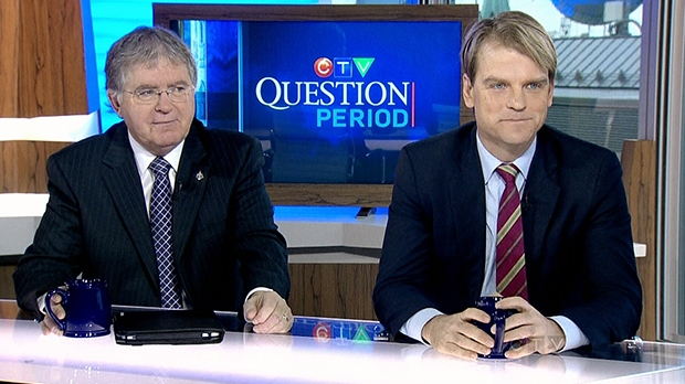 NDP Defence Critic Jack Harris, left, and Parliamentary Secretary for the Minister of National Defence Chris Alexander on CTV's Question Period, Sunday Dec. 9, 2012.