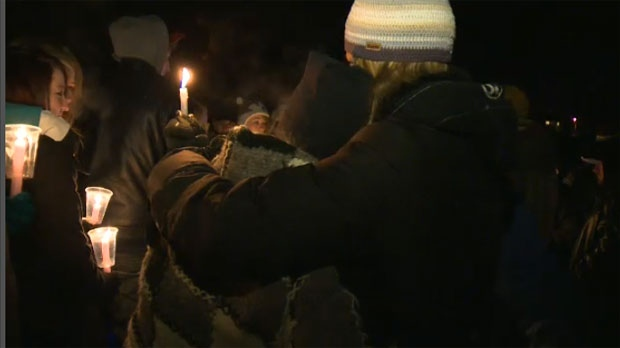 Cochrane residents gathered at Mitford Park on Saturday night to remember Brandon Thomas, the teenaged victim of a recent drunk driving crash