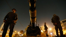 Soldiers stand guard Morsi palace Dec. 9, 2012