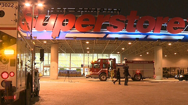 A false ceiling in the Superstore on 12350 137 Ave. caused panic Sunday evening.