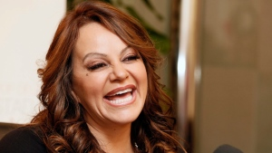 Jenni Rivera attends a press conference in Woodland Hills, California on Friday, Aug. 24, 2012. (Invision / Todd Williamson)