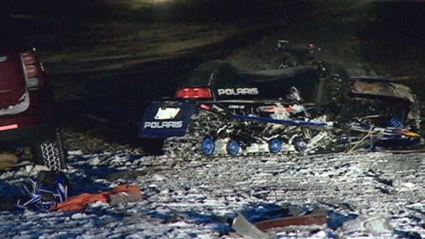A 54-year-old snowmobiler died Sunday