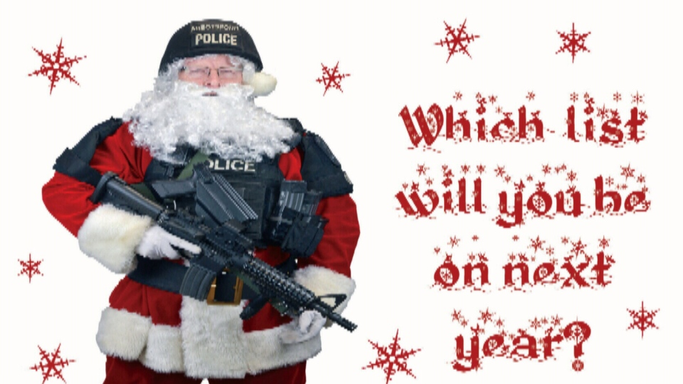 Abbotsford police send Christmas cards to criminals | CTV News Vancouver