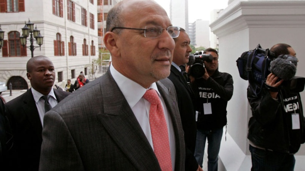 Member of Parliament Trevor Manuel arrives for the swearing in of members of Parliament and the president in Cape Town, South Africa, Wednesday, May 6, 2009. (AP / Schalk van Zuydam)