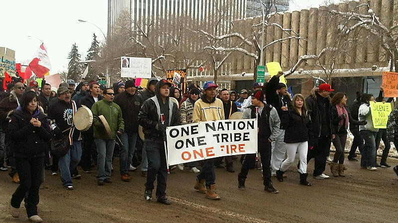 First Nations, Metis and supporters across Canada are protesting Bill C-45, which they say infringes on treaty rights.
