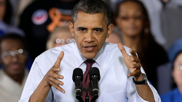 Obama rallying for upper-class tax hike